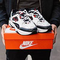 Кроссовки мужские Nike M2K Tekno белые с черным, Найк М2К Техно, код IN-497
