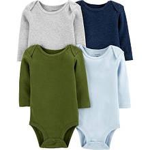 Набор бодиков Carter's для мальчика с длинным рукавом, разные цвета 24М ( 83-86 см)