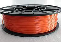 PETG - пластик для печати на 3D принтере. Оранжевый  1,75 мм, 750 грамм