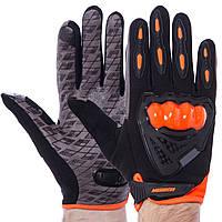 Мотоперчатки Pro Scout CMHTO-035 размер XL Black-Orange, фото 1
