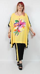Турецкий летний женский костюм больших размеров 52-64