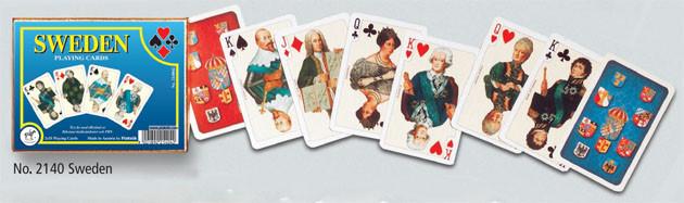 """Комплект гральних карт """"Sweden"""", 2х55 карт (шт.) 2140"""