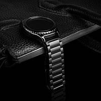 Стальной мужской ремешок браслет 22 мм