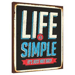 Картина на полотні 40х50 Life is simple (H4050_DVD001)