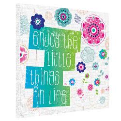 Картина на полотні 50х50 Enjoy the little things in life (H5050_DVD009)
