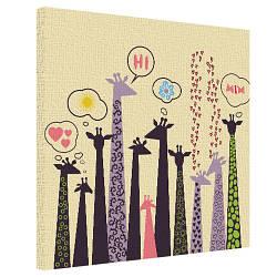 Картина на полотні 50х50 Tall giraffe (H5050_DVD011)