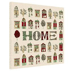 Картина на холсте Home 50х50 см (H5050_DVD014)