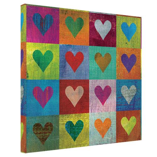 Картина на холсте Сердца 65x65 см (H6565_DVD009)