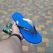 Мужские летние шлепанцы-вьетнамки синие Райдер, фото 2