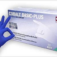 Перчатки нитриловые без пудры Ampri COBALT BASIC-PLUS 200 шт./уп.РАЗМЕР M,СИНИЕ