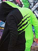 Мантия унисекс двухцветная Пушка Огонь Scratch черно-зеленая 🔥