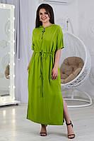 Стильное длинное платье с капюшоном, арт. А490, ткань штапель
