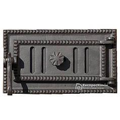 Зольные дверцы «Style 35» 330х180 Поддувальная Чугунная дверка для печи барбекю