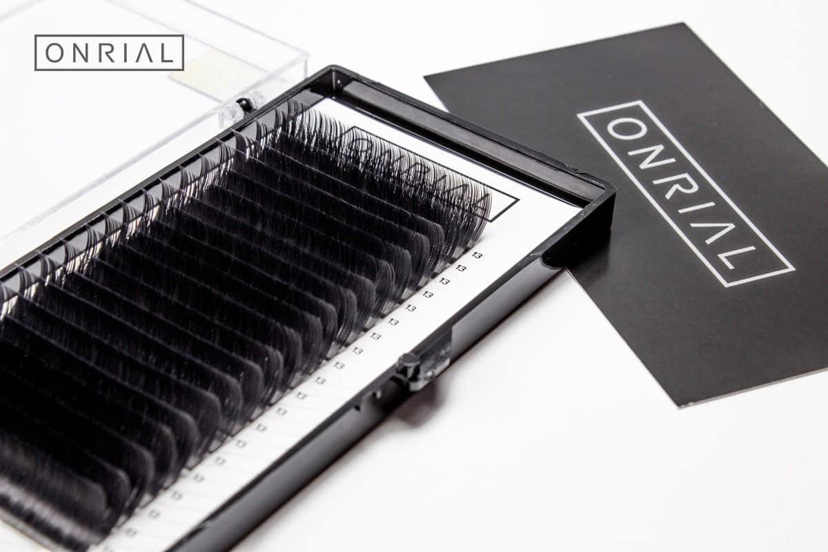 Ресницы черные D-0.07 - 9 мм ONRIAL