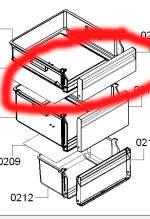 Верхняя панель ящика морозильного отделения холодильник Bosch KGV39VI31   11000683