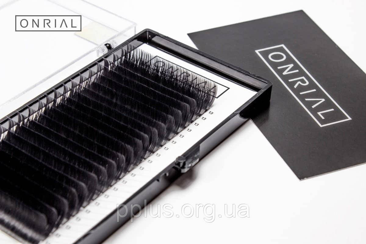 Ресницы черные D-0.10 - 15 мм ONRIAL