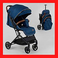 Детская прогулочная коляска для мальчика  с телескопической ручкой для перевозки, Синяя детская коляска