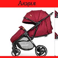 Коляска детская Всесезонная коляска для ребенка от 6 мес Красная детская коляска