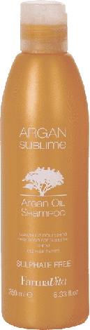 Шампунь с аргановым маслом FarmaVita Argan Sublime Argan Oil Shampoo 250 мл, фото 2