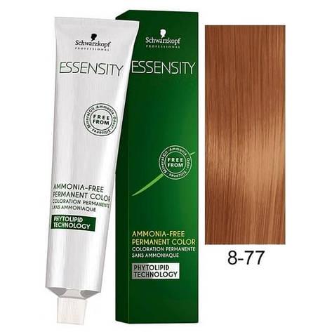 Краска для волос 8-77 Schwarzkopf Essensity Светло-Русый Красный Медный 60 мл, фото 2