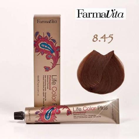 Краска для волос 8.45 Life Color Plus Светлый блондин медный (красное дерево) 100 мл, фото 2