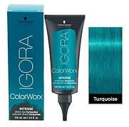 Краска для волос прямого действия Schwarzkopf Igora Color Worx Intense (бирюзовый) 100 мл