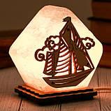 Соляной светильник Домик средний Корабль, фото 2