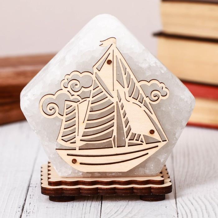 Соляной светильник Домик средний Корабль