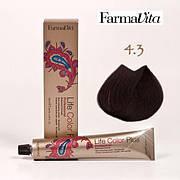 Краска для волос 4.3 Life Color Plus Каштановый золотистый 100 мл