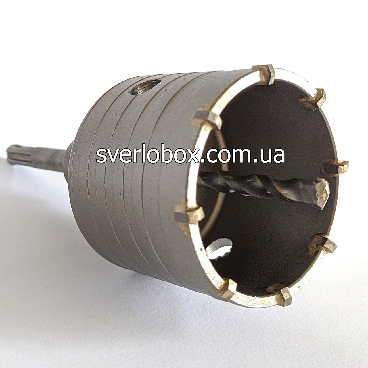 Коронка по бетону для перфоратора 80 мм SDS-plus