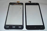 Оригинальный тачскрин / сенсор (сенсорное стекло) для FLY IQ446 (черный цвет, самоклейка)