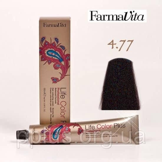 Краска для волос 4.77 Life Color Plus Интенсивный коричневый кашемир 100 мл