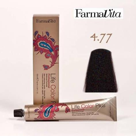 Краска для волос 4.77 Life Color Plus Интенсивный коричневый кашемир 100 мл, фото 2