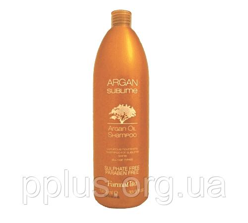 Шампунь с аргановым маслом FarmaVita Argan Sublime Argan Oil Shampoo 1000 мл, фото 2