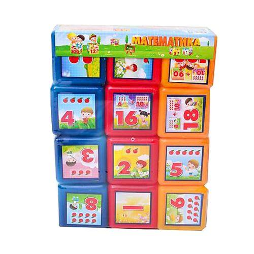 "Кубики ""Математика"" (12 штук) 09052"