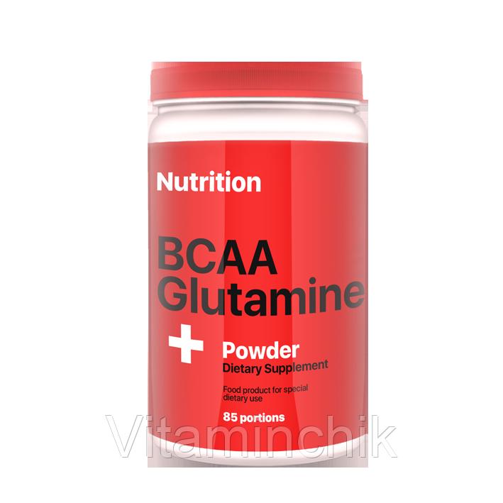 Аминокислота AB PRO BCAA + Glutamine Powder 1000 г Апельсин