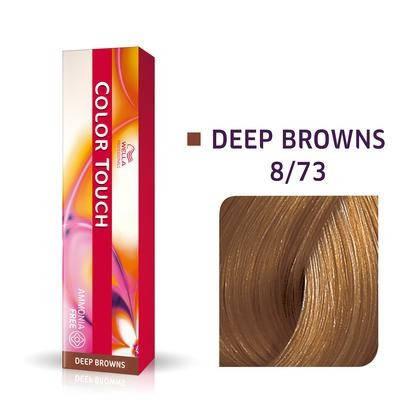 Краска для волос 8/73 Wella Color Touch Светлый блондин коричнево-золотистый 60 мл, фото 2