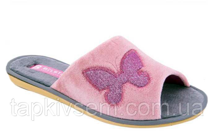 Тапки женские Белста ОРИГИНАЛ 02-06 пудра бабочка
