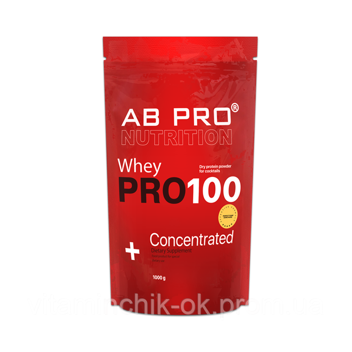 Протеин AB PRO PRO 100 Whey Concentrated 1000 г Банан