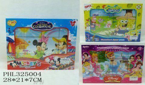 """Кубики """"Mickey Mouse""""/""""Sponge Bob""""/""""Принцессы"""" 1271A/1273A74"""