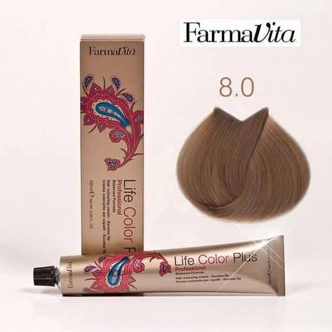 Краска для волос 8.0 Life Color Plus Светлый блондин 100 мл, фото 2