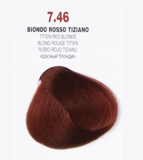 Краска для волос 7.46 Brelil Colorianne Classic ярко-медный 100 мл