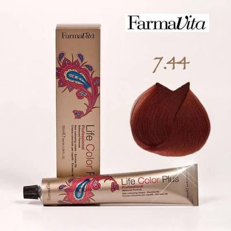 Краска для волос 7.44 Life Color Plus Блондин насыщенный медный 100 мл, фото 2