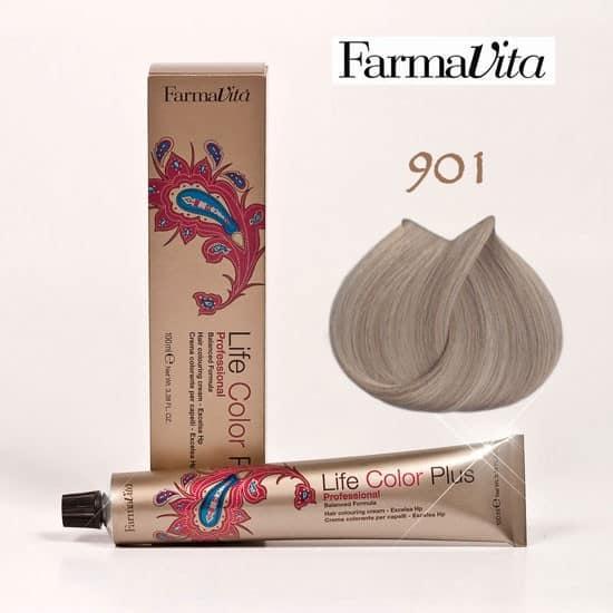 Краска для волос 901 Life Color Plus Светло-пепельный блондин (сильный осветлитель) 100 мл