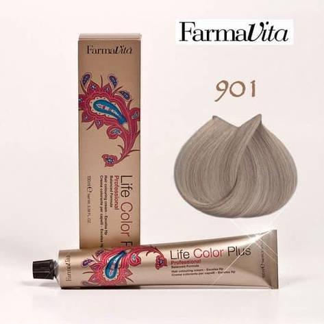 Краска для волос 901 Life Color Plus Светло-пепельный блондин (сильный осветлитель) 100 мл, фото 2