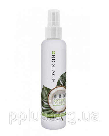 Мультифункциональный спрей-уход с кокосовым маслом Matrix Biolage All-in-One Coconute 150 мл, фото 2