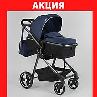Коляска детская трансформер JOY Naomi Коляски для новорожденных Синяя детская коляска,сумка, футкавер