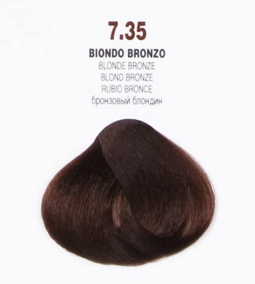 Краска для волос 7.35 Brelil Colorianne Classic бронзовый блондин 100 мл