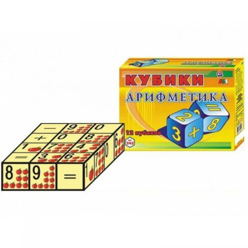 """Кубики """"Арифметика ТехноК"""", 12 кубиков 0243"""