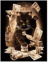 Картина ( раскраска) по номерам ПРЕМИУМ!!! Денежный кот
